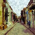 Old Cartagena 1 by Kurt Van Wagner