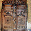 Old Carved Church Door by Christiane Schulze Art And Photography