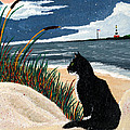 Old Cat And The Sea by Edward Fuller