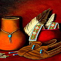 Old Cherokee Moccasins by H Doug Agee