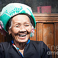 Old Chinese Zhuang Minority  Lady Smiling China by Matteo Colombo