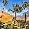 Old Church At Honokawai Maui by Dominic Piperata