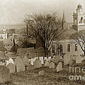 Old Church's Cemetery Graveyard Boston Massachusetts Circa 1900 by California Views Archives Mr Pat Hathaway Archives