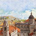 Old City Of Dubrovnik by Catf
