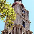 Old Clock Tower In Rhodes City Greece by Aleksandar Mijatovic