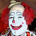 Old Clown Backstage by Barbie Corbett-Newmin