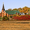 Old Country Church In Autumn by Peggy Collins