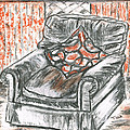 Old Cozy Chair by Teresa White