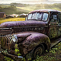 Old Dairy Farm Truck by Debra and Dave Vanderlaan
