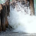 Old Dock Pilings Beaten By Waves by Kathleen Luther