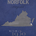 Old Dominion University Monarchs Norfolk Virginia College Town State Map Poster Series No 085 by Design Turnpike