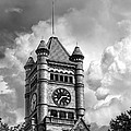 Old Dupage County Courthouse Clouds Black And White by Christopher Arndt