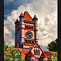 Old Dupage County Courthouse Clouds Poster by Christopher Arndt