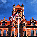 Old Dupage County Courthouse Flag by Christopher Arndt
