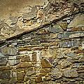 Old Eroded Stone Wall by Jozef Jankola
