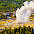 Old Faithful From Observation Point by Greg Norrell
