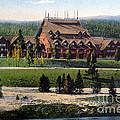 Old Faithful Inn Yellowstone Np 1928 by NPS Photo Asahel Curtis