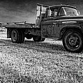 Old Farm Truck Black And White by Edward Fielding