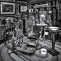 Old Fashioned Dentist Office Bw by Susan Candelario
