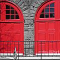Old Fire Hall Doors by Nina Silver
