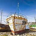 Old Fishing Boats Camaret-sur-mer Brittany France by Colin and Linda McKie