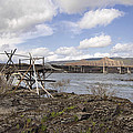 Old Fishing Platform By The Dalles Bridge by Jit Lim