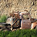 Old Flatbed International Truck by Steve G Bisig