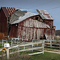Old Forlorn Decrepid Wooden Barn by Randall Nyhof
