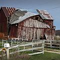 Old Forlorn Decrepid Wooden Barn by Randall Nyhof