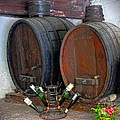 Old French Wine Casks by Dave Mills