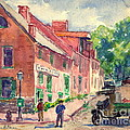 Old Georgetown Dc 1910 by Padre Art