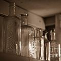 Old Glass Bottles by Edward Fielding