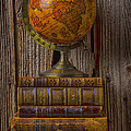 Old Globe On Old Books by Garry Gay