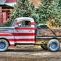 Old Glory Ford Pickup by Harold Rau