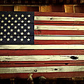 Old Glory In Wood by Mick Anderson