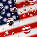 Old Glory Water Drops by Jack Daulton