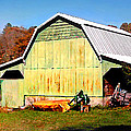 Old Green Barn South Of Rosman by Duane McCullough