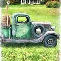 Old Green Pickup Truck by Edward Fielding