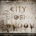 Old Grunge Stone Board With City Of London Text by Michal Bednarek