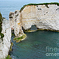 Old Harry Rocks On The Jurassic Coast In Dorset by Louise Heusinkveld