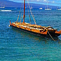 Old Hawaiian Sailboat by Elaine Haakenson