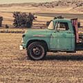 Old Hay Truck In The Field by Edward Fielding
