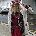 Old Hippie In Woodstock Ny  by Anna Ruzsan