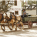 Old Horse Drawn Wagon At Fort Edmonton Park by Randall Nyhof