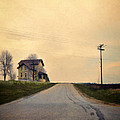 Old House On Country Road by Jill Battaglia