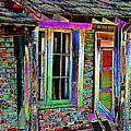 Old House Pop Art by Phyllis Denton