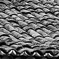 old house roof tiled with traditional old spanish roof tiles Tenerife Canary Islands Spain by Joe Fox