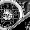 Old Jag In Black And White by Michael Arend