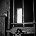 Old Jail Cell Door With Antique Lock by Imagery by Charly