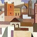 Old Jerusalem by Munir Alawi